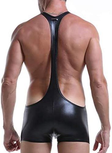 男性セクシーな下着ボディスーツ快適な通気性トレーニングボディービルレオタードレスリング一重項