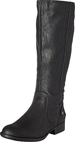 LifeStride Women's Xandywc Riding Boot- Wide Calf, Black, 6 M - Boot Calf Wide