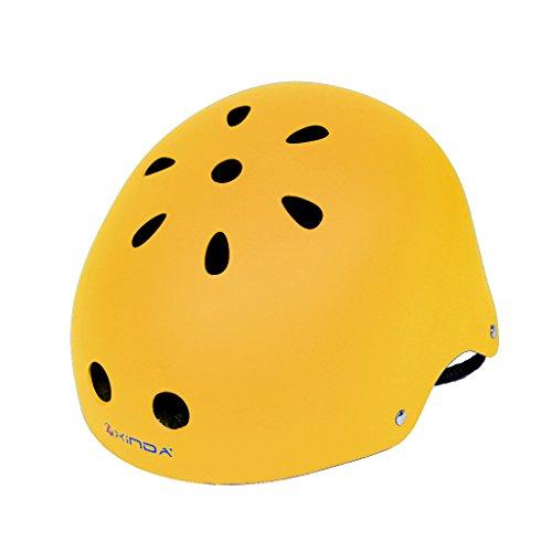 Jili Online Vent Climbing Helmet Hard Hat Outdoor Arborist Rock Climbing Protective Gear - Yellow, 52-58cm by Jili Online