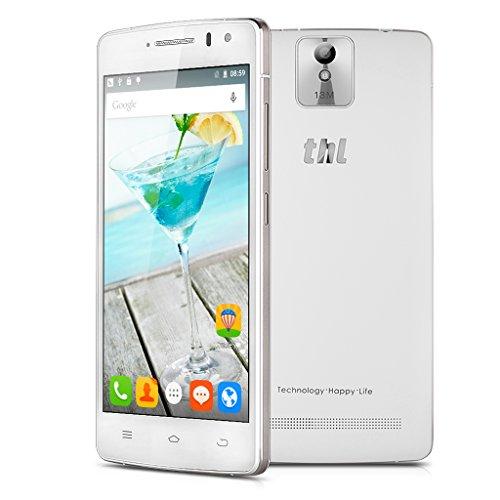 THL 2015A 5'' Zoll HD Screen 4G-Smartphone Quad Core Dual SIM Handy ohne Vertrag Android 5,12GB+16GB GPS OTG Dual Kamera unterstützt GSM WCDMA LTE-FDD B1 B3 B7 B20 Weiß