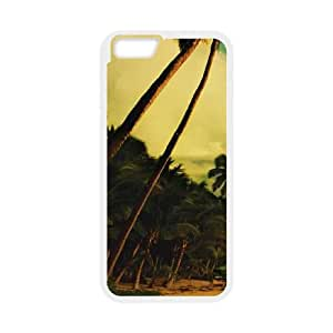 iPhone 6 Plus 5.5 Inch Cell Phone Case White Reef Island Paradise Sjuzh