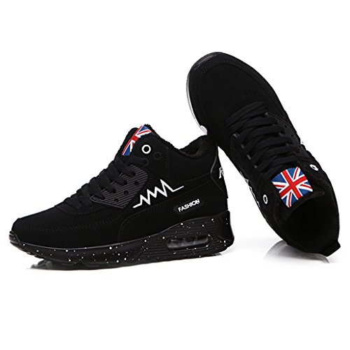 Booties Sports Trekking Air Plus Hishoes Winter Outdoor Black Plush High Sneaker Women's Top Running Shoes Ankle Climbing Iw8Bf