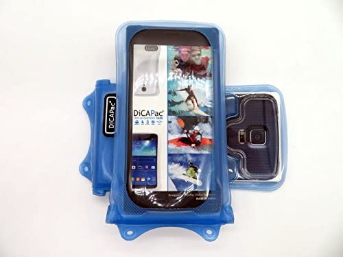 DiCAPac WP-C1 Universal Waterproof Case for Micromax A210 Canvas 4/A250 Canvas Turbo/A91 Ninja in Blue (Double Locking System; IPX8 Certified ...