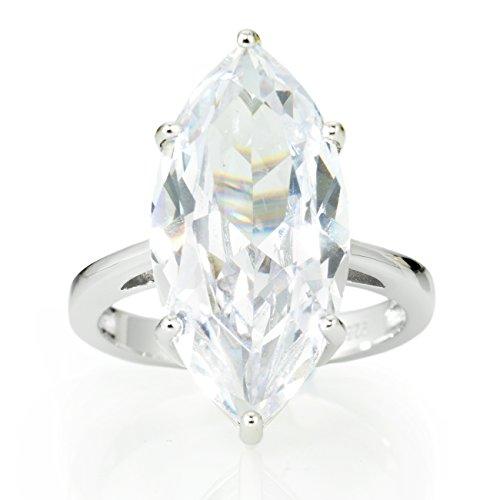 Gestalt Couture Magnificent Cocktail Ring. Solitaire 9.58 Carat Marquis Brillianite. BRILL958MQ6