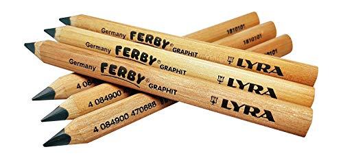 Lyra Ferby Short Tri grip Triangular Children Kindergarten Pencils, School supplies Beginner grip writing pencil for kids, Triangle Pencils, 6 - Pack Pencils 4