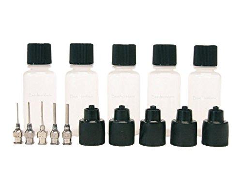 Soft Squeeze Black Jagua Ink Art Craft Applicator Dispenser Bottles for Glue, Henna, Paste, Paint - Professional Henna