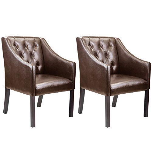 CorLiving LAD-628-C Antonio Accent Club Chair in Bonded Leather, Espresso Brown
