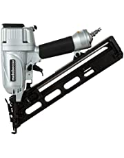 Metabo HPT CA Tools NT65MA4 Pneumatic Angled Finish Nailer, 15 Gauge, 1-1/4-Inch Up to 2-1/2-Inch Finish Nails, Integrated Air Duster, Selective Actuation Switch, 360-Degree Exhaust Portal