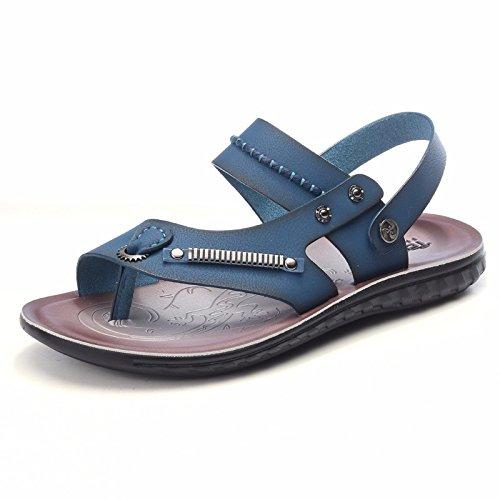 Estate uomini sandali spiaggia scarpa uomini gioventù Soft bottom non-slip tempo libero dual use sandali scarpa uomini marea scarpe, blu, UK = 7, EU = 40 2/3
