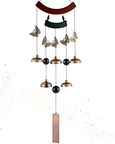 Cheap  Wind Chime Outdoor -Metal Butterfly Wind Chime with 5 Unique Bells and..