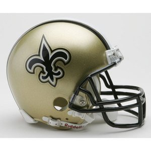 Riddell New Orleans Saints Replica Mini Helmet w/Z2B Face Mask (Riddell Face Mask)