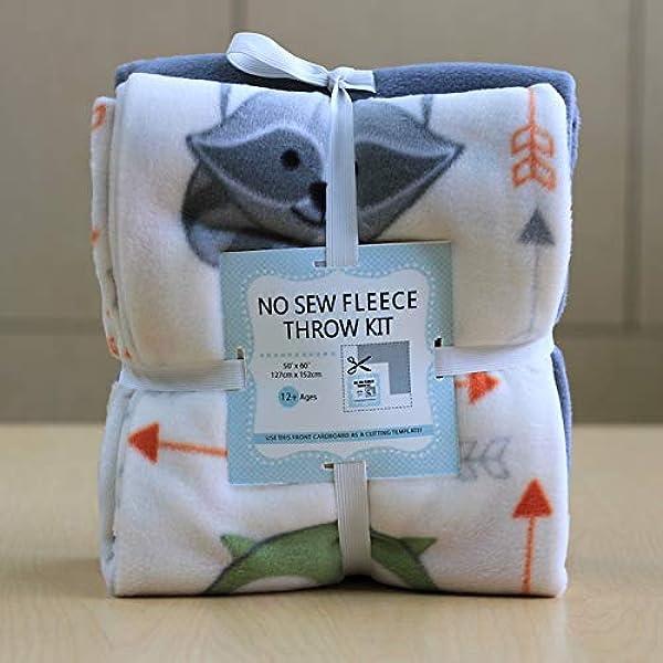 Muttnick Neal Calypso Baby Safari Animals Pattern No-Sew Anti-Pill Fleece Blanket 44 x 55 Daycare  Preschool Nap Blanket