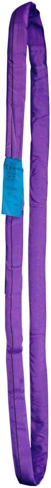 5m longueur utilisable - 10 m longueur totale /Élingue ronde PONSA tubulaire de polyester HT 1000 Kilos de r/ésistance 1t-5m avec traitement PONSAGARD contre coupures et abrasions 030134010308