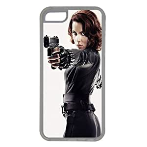 iPhone 5C case ,fashion durable Transparent side design phone case, Rubber material phone cover ,with Black Widow .