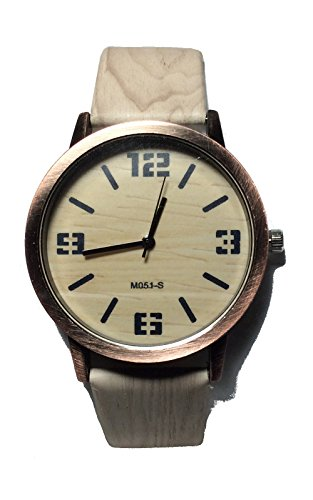 Light Wood And Wooden Look Watch. Analog Quartz Movement.