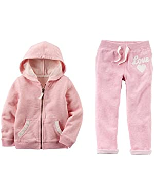Baby Toddler Girls French Terry Hoodie + Pants
