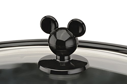 Disney DCM-502 Mickey Mouse Oval Slow Cooker with 20-Ounce Dipper, 5-Quart, Red/Black by Disney (Image #3)