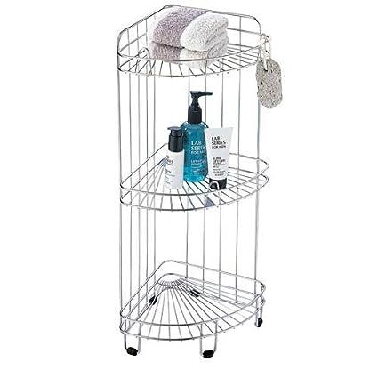 Amazon.com: Organize It All 1755 3 Tier Bath Corner Shower Caddy ...