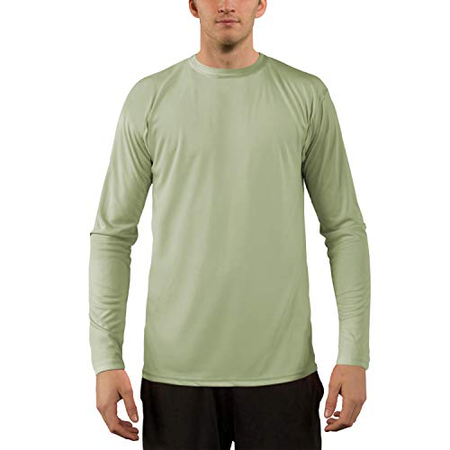- Vapor Apparel Men's UPF 50+ UV Sun Protection Performance Long Sleeve T-Shirt X-Large Sage