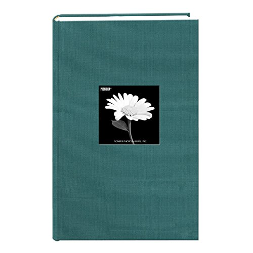 Fabric Frame Cover Photo Album 300 Pockets Hold 4x6 Photos, Majestic Teal - 300 Pocket Photo Album
