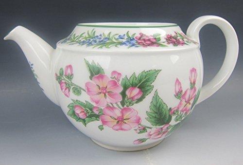 Royal Worcester China WORCESTER HERBS-GREEN TRIM 5C Tea Pot (No Lid) ()