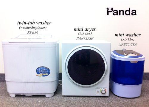 Amazon.com: Panda 1.50 cu.ft Compact Laundry Dryer, White and Black ...