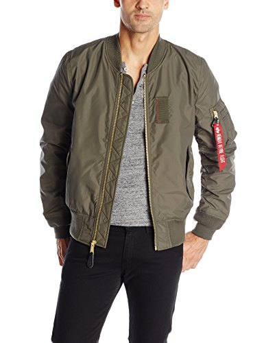 UPC 640631469472, Alpha Industries Men's MA-1 Skymaster Water Resistant Flight Bomber Jacket, Replica Grey, X-Large