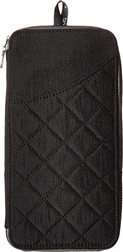Baggallini RFID Travel Wallet, Black/Charcoal