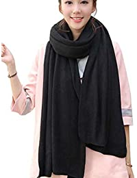 Womens Warm Winter Infinity Scarves Set Blanket Scarf Pure Color