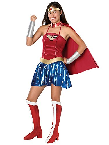 Justice League Teen Wonder Woman Costume, Red, Teen]()