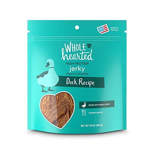 Whole Duck Recipes - WholeHearted Duck Recipe Jerky Dog Treats, 16 oz.