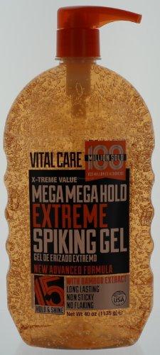 Vital Care Mega Mega Hold Extreme Spiking Gel, 40 Oz.