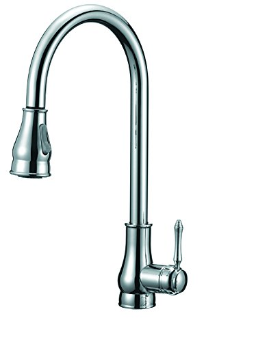 Apogee by Lenova Sinks - Traditional style side lever faucet with spray/stream sprayhead and ceramic cartridge in polished chrome - 8 Pack by Apogee by Lenova Sinks