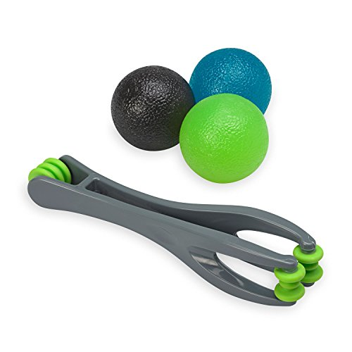 Gaiam Restore Hand Therapy Kit & Components | Hand Therapy Massage Balls, Finger...