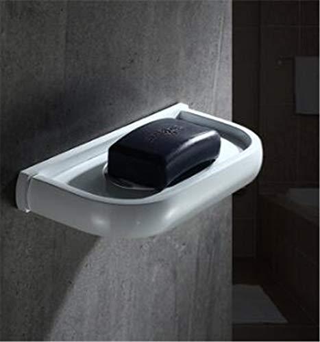 European Style Fashion Brass White Towel Ring Square Bath Towel Rings Bathroom Accessories Towel Rack Bathroom Towel Bar soap ()