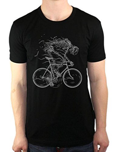 The Nakin Skeleton Cycling Bicycle Ghost Bone Bike Fixie Men's T-Shirt