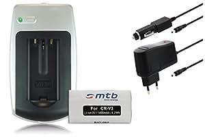 Batería + Cargador CRV-3 para Canon Powershot A60, A70, A75, A300