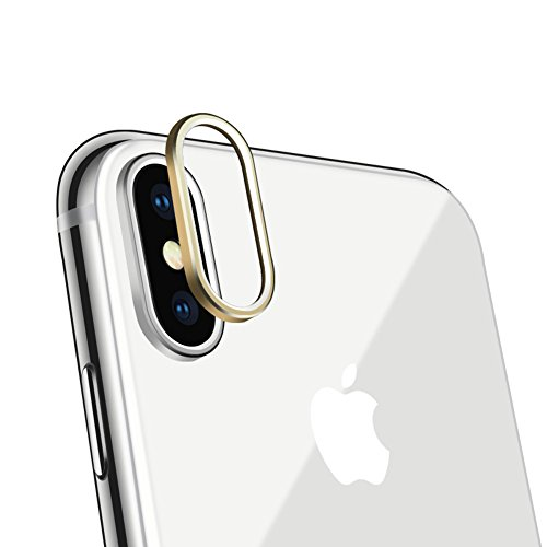 Sakula Camera Lens Protector Ring Plating Aluminum for iPhone X Camera Case Cover Ring Gold