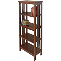 Manchester Wood Mission 54 Bookcase - Chestnut