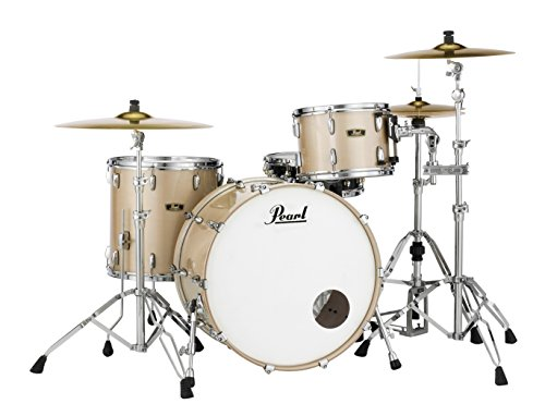 Pearl FW943XP/C151 Wood Fiberglass Series 3 Piece Shell Pack, Platinum Mist (Cymbals/Hardware (Platinum Lacquer Tom)