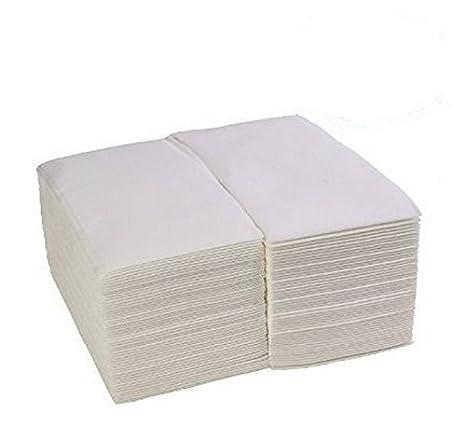Lino Feel blanco toallas de papel de – Amazing suave & cómodo desechables de toallas de