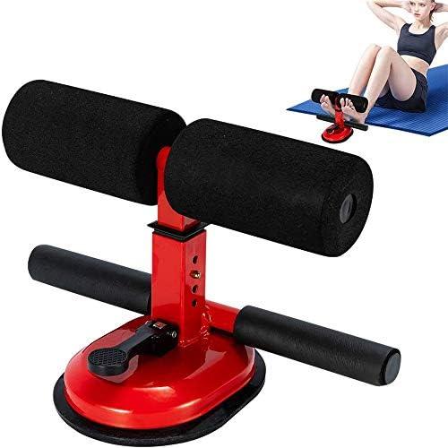 シットアップバー、トレーニングボディストレッチ装置、快適なパッド入りの足首とサポートロード、在宅勤務または旅行用の4つのギアポジション、赤