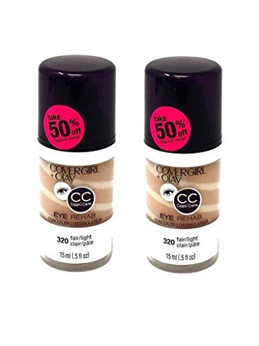Lot of 2 CoverGirl & Olay Eye Rehab Concealer 320 Fair Light