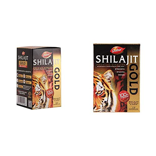 Dabur Shilajit Gold for Strength, Stamina and Power – 20 Capsules & Dabur Shilajit Gold for Strength, Stamina and Power…