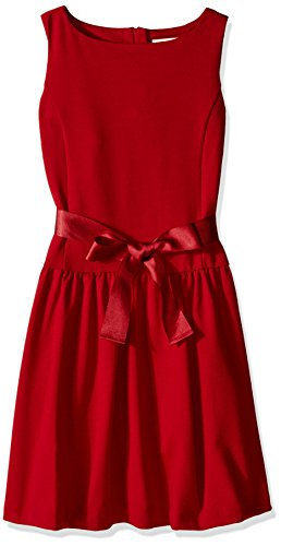 Solid Ponte Dress - Scout + Ro Little Girls' Solid Ponte Dress, Red, 5