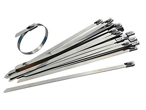 Confezione da 25fascette in acciaio INOX–300mm x 4.6mm–30, 5cm di alta qualità 316marine grade metallo fascette Gocableties