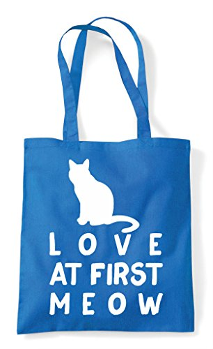 Tote Sapphire Cat Meow At First Pets Love Person Lover Bag Animal Funny Shopper znxBn7