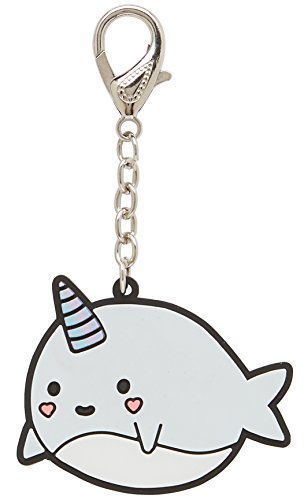 LaurDIY Kawaii Collection Narwhal Purse and Backpack Keychain Charm -
