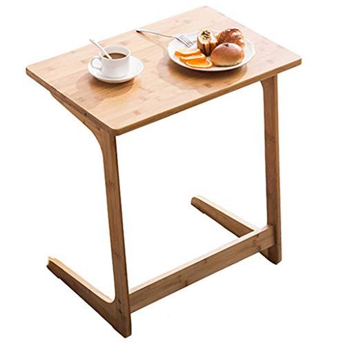 Mesas de cafe Mesa Mini Mesa Cuadrada De Madera Maciza Mesa Auxiliar En Forma De Z De Montaje Muebles Multifuncionales Regalos (Color : Brown, Size : 55 * 35 * 60cm)
