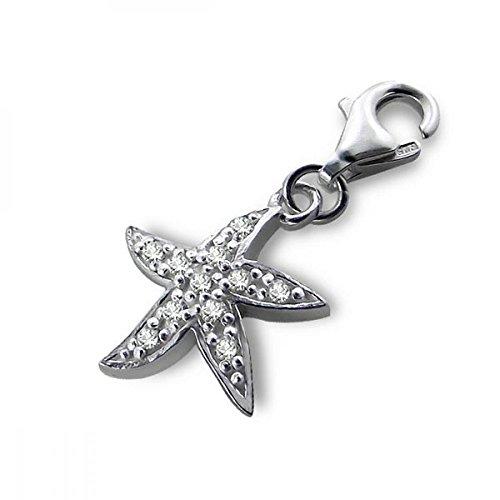 Cubic Zirconia Starfish Charm - 1